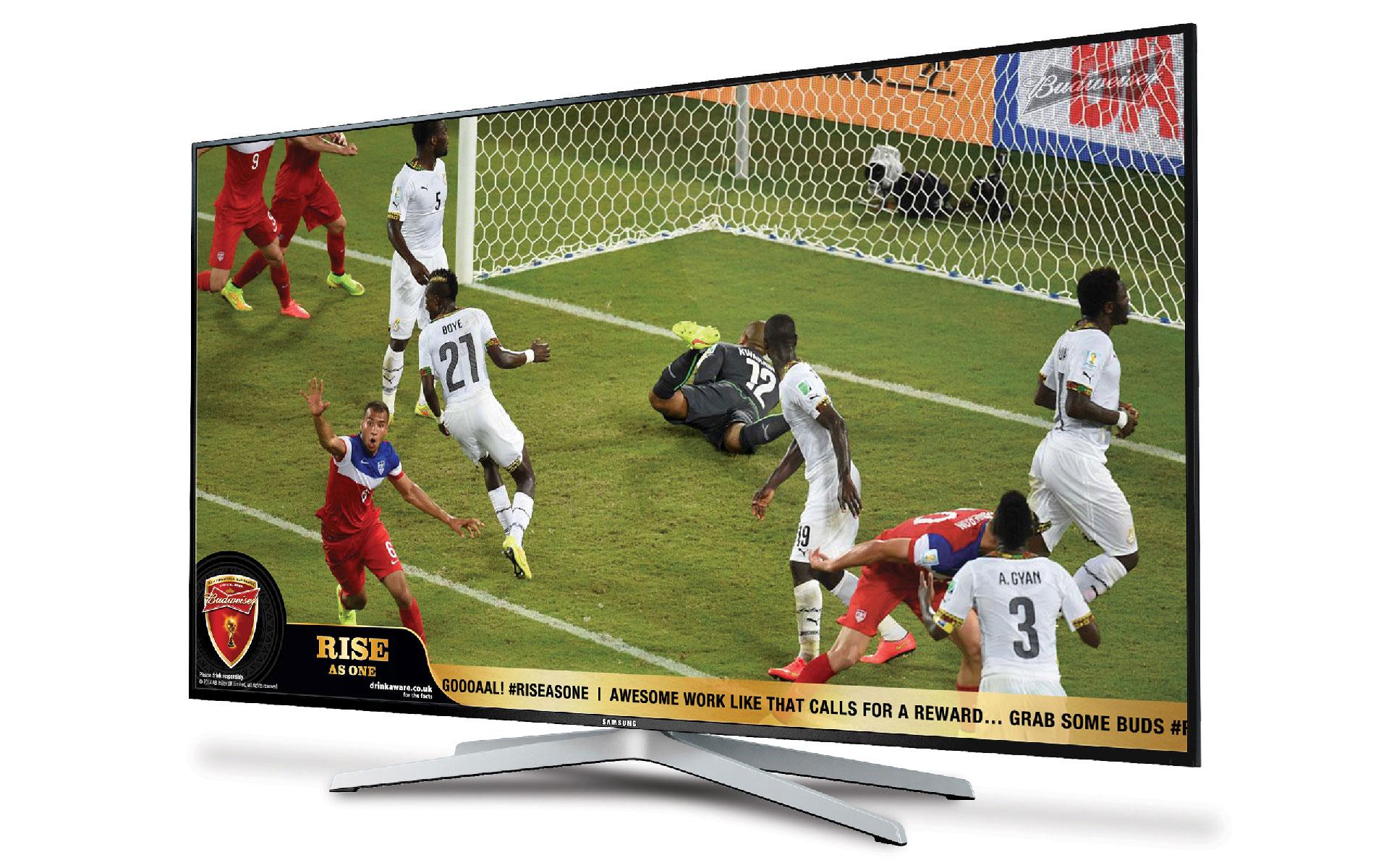 Budweiser - Smart TV (ticker tape)